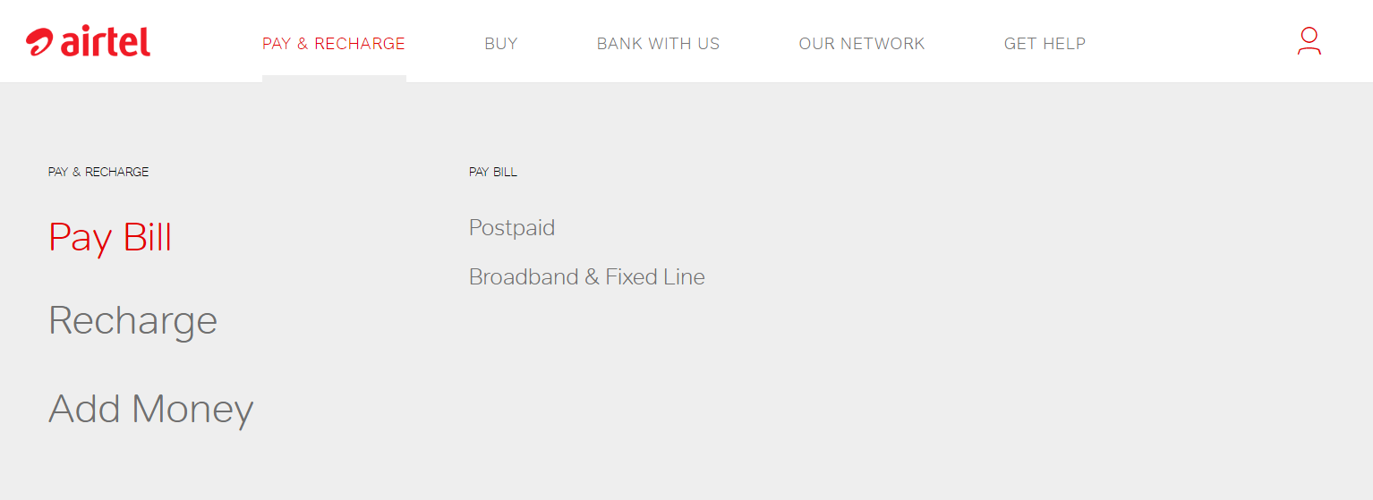 Airtel online recharge Prepaid/ Postpaid @ www airtel in | Online